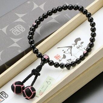 数珠,黒オニキス