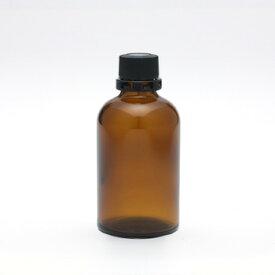 遮光瓶(茶・丸型)60mL(セキュリティ付キャップ&ドロップ栓付) 【化粧品容器】 【日本製】 【アロマ 容器】