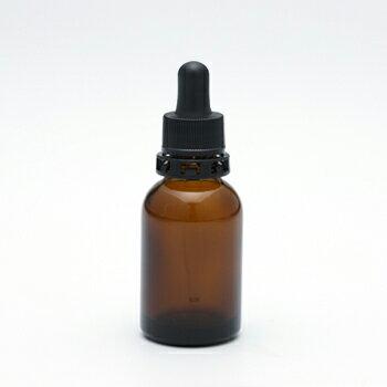 遮光瓶(茶・丸型)20mL(スポイト黒セキュリティ付) 【化粧品容器】 【日本製】 【アロマ 容器】