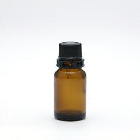 遮光瓶(茶・丸型)10mL(セキュリティ付キャップ&ドロップ栓付) 【化粧品容器】 【日本製】 【アロマ 容器】
