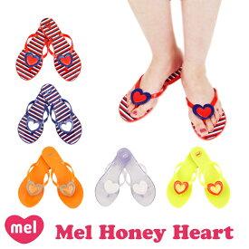 メル(Mel Shose by Melissa) メル ハニーハート フリップフロップ(Mel Honey SP AD/Honey Heart) レディース ラバーサンダル/ビーチサンダル/ビーサン/メリッサ セカンドライン【39】 [AA]