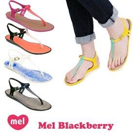 メル(Mel Shose by Melissa) メル ブラックベリー(Mel Blackberry) レディース ラバーサンダル/フラットシューズ/ビーチサンダル/トングサンダル/ビーサン/メリッサ セカンドライン【27】 [AA]