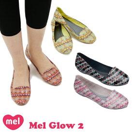 メル(Mel Shose by Melissa) メル グロー 2(Mel Glow 2) レディース ラウンドトゥ パンプス/ラバーシューズ/フラットシューズ /レインシューズ/幾何学柄/メリッサ セカンドライン【53】 [AA]