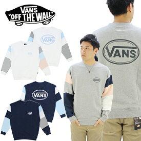 【ポイント10倍】バンズ(VANS) Color Block Crew Sweat(カラー ブロック クルー スウェット)/メンズ/レディース[BB]