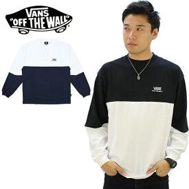 【21%OFF】【ポイント10倍】バンズ(VANS) Color Block L/S Tee メンズ ロング Tシャツ/長袖Tシャツ/ロンT[AA]