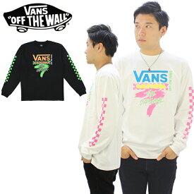 【ポイント10倍】バンズ(VANS)Neon Checker Racing L/S Tee メンズ ロング Tシャツ/長袖Tシャツ/ロンT[AA]