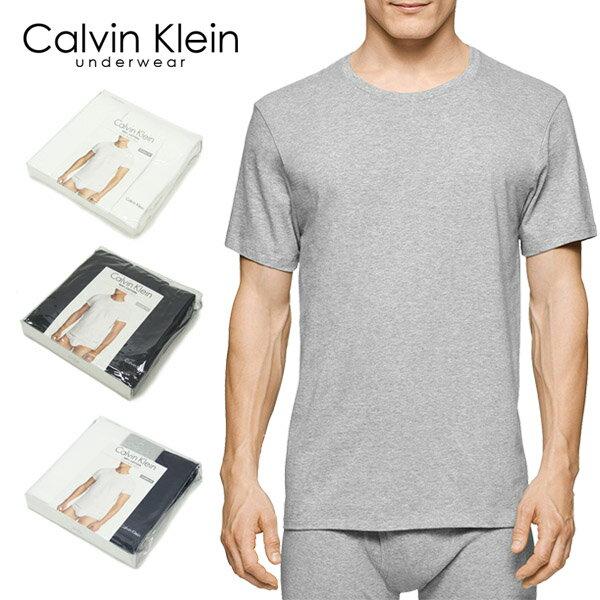 【3枚組】カルバンクライン(Calvin Klein) コットン クラシック 半袖 Tシャツ 3パック(Cotton Classic Short Sleeve Crew T-Shirts) アンダーウェア メンズ男性下着【楽ギフ_包装選択】【r】[AA]