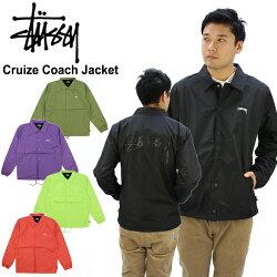 【送料無料】ステューシー(STUSSY)CruizeCoachJacketコートジャケット/アウター/メンズ【31】[AA]