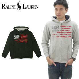 ラルフローレン(Ralph Lauren) Flag Graphic Full Zip Hoodie ボーイズ 長袖 フード フルジップ パーカ[AA]