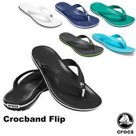 クロックス(CROCS) クロックバンド フリップ(crocband flip) メンズ/レディース サンダル【男女兼用】 [AA]【11】