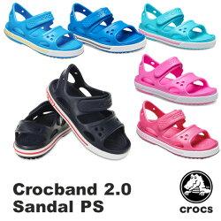 【送料無料】クロックス(CROCS)クロックバンド2.0サンダルPS(crocband2.0sandalPS)サンダル【ベビー&キッズ子供用】【楽ギフ_包装選択】【r】【22】