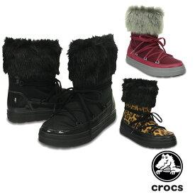 クロックス(CROCS) ロッジポイント レース ブーツ ウィメン(lodgepoint lace boot w) レディース/女性用 [BB]【45】