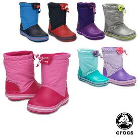 クロックス(CROCS) クロックバンド ロッジポイント ブーツ キッズ(crocband lodgepoint boot kids)【子供用】 [BB]【20】