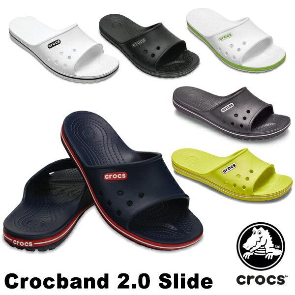 【送料無料】クロックス(CROCS) クロックバンド 2.0 スライド(crocband 2.0 slide) メンズ/レディース サンダル【男女兼用】【楽ギフ_包装選択】【r】【21】[AA]