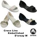 【送料無料】クロックス(CROCS) クロックス リナ エンベリッシュド ドルセー ウィメン(crocs lina embellished d'orsay w) /レディース…
