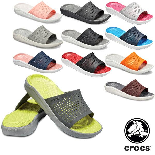 【送料無料】クロックス(CROCS) ライトライド スライド(literide slide) メンズ/レディース サンダル【男女兼用】【楽ギフ_包装選択】【r】[BB]