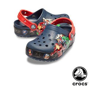 クロックス(CROCS) クロックス ファン ラブ マーベル バンド ライツ クロッグ キッズ(crocs fun lab Marvel band lights clog kids)【ベビー & キッズ 子供用】 [AA]【26】