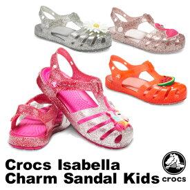 【送料無料】クロックス(CROCS) クロックス イザベラ チャーム サンダル キッズ(crocs isabella charm sandal kids) サンダル【ベビー & キッズ 子供用】[AA]【20】