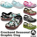 【送料無料】クロックス(CROCS) クロックバンド シーズナル グラフィック クロッグ(crocband seasonal graphic clog) メンズ/レディー…