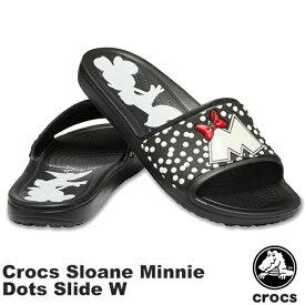 クロックス(CROCS) クロックス スローン ミニー ドット スライド ウィメン(crocs sloane Minnie dots slide w)レディース サンダル【女性用】 [BB]【20】