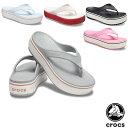 クロックス(CROCS) クロックバンド プラットフォーム フリップ(crocband platform flip) レディース 厚底 サンダル【女性用】 [BB]【20】