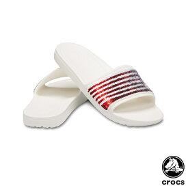 クロックス(CROCS) クロックス スローン アメリカン フラッグ リバース シークイン スライド ウィメン(crocs sloane American flag reverse sequin slide w) レディース サンダル【女性用】 [AA]【20】