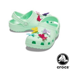 クロックス(CROCS) クラシック バタフライ チャーム クロッグ PS(classic butterfly charm clog PS)サンダル【ベビー & キッズ 子供用】 [AA]【15】