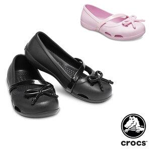クロックス(CROCS) クロックス リナ ボウ チャーム フラット PS(crocs lina bow charm flat PS) サンダル【ベビー & キッズ 子供用】 [AA]【10】