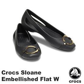 クロックス(CROCS) クロックス スローン エンベリッシュド フラット ウィメン(crocs sloane embellished flat w)レディース サンダル フラットシューズ【女性用】 [AA【10】]