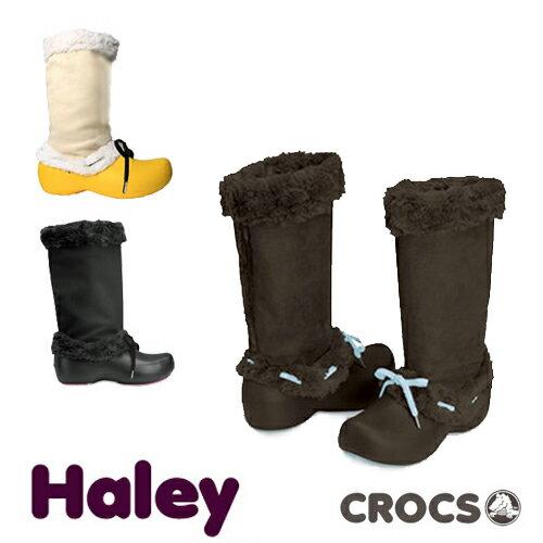 【送料無料】CROCS Haley Lady's クロックス ハレイ レディース ブーツ【ファー ウィンターブーツ スウェード 女性用】【楽ギフ_包装選択】【r】【55】[CC]