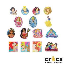 【ゆうパケット可】クロックス(CROCS) ジビッツ(Jibbitz) ディズニー プリンセス(Disney Princess) /白雪姫/シンデレラ/アリエル/他/クロックス/シューズアクセサリー/キャラクター[RED][AA-2]