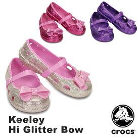 クロックス(CROCS) キーリー ハイ グリッター ボウ(keeley hi glitter bow)【子供用】 送料無料対象外 [AA]【70】