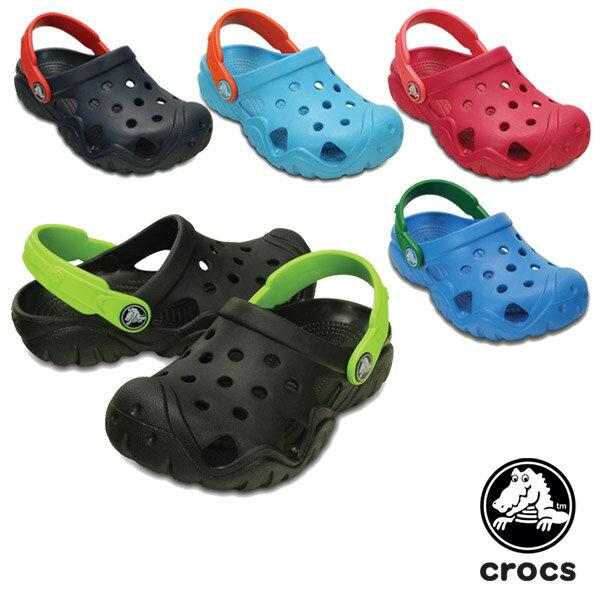 【送料無料】クロックス(CROCS) スウィフトウォーター クロッグ キッズ(swiftwater clog kids) サンダル【ボア ショートブーツ ベビー & キッズ 子供用】【楽ギフ_包装選択】【r】【25】[AA]