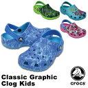 【送料無料】クロックス(CROCS) クラシック グラフィック クロッグ キッズ(classic graphic clog kids ) サンダル【ベビー & ...