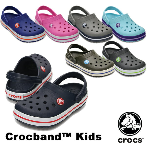 【送料無料】クロックス(CROCS) クロックバンド キッズ/ホールサイズ(crocband kids) サンダル【ベビー & キッズ 子供用】【楽ギフ_包装選択】【r】[AA]【20】
