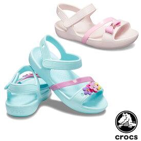【送料無料】クロックス(CROCS) クロックス リナ チャーム サンダル キッズ(crocs lina charm sandal kids ) サンダル【ベビー & キッズ 子供用】[AA]【20】