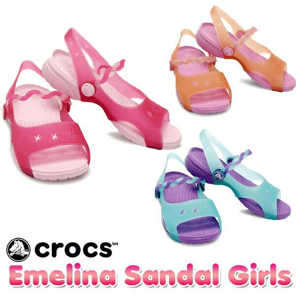 【送料無料】クロックス(CROCS) エメリナ サンダル ガールズ(Emelina Sandal Girls) サンダル【ベビー & キッズ 子供用】【楽ギフ_包装選択】【r】【40】[AA]