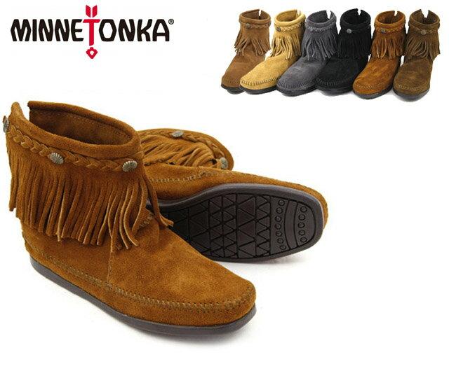 【送料無料】MINNETONKA Hi Top Back Zipper Boot ミネトンカ ハイトップ バックジッパー ブーツ/スエードブーツ(292-293-297-299-291t)【楽ギフ_包装選択】【r】【39】[CC]