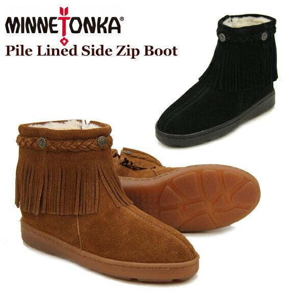 【送料無料】ミネトンカ(MINNETONKA) パイル ラインド サイド ジップ ブーツ(Pile Lined Side Zip Boot) レディース/ウィメンズ用 スエード ブーツ【楽ギフ_包装選択】【r】【34】[CC]