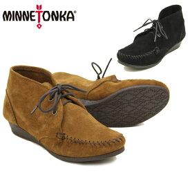 ミネトンカ(MINNETONKA) チャッカ ウェッジ ブーティ(Chukka Wedge Bootie) レディース/ウィメンズ用 モカシン スエード ブーツ【41】 [CC]