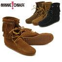 【送料無料】ミネトンカ(MINNETONKA) ダブル フリンジ トランパー ブーツ(Double Fringe Tranper Boot)【楽ギフ_包装…