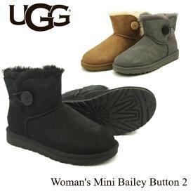 アグ(UGG) ウィメンズ ミニ ベイリーボタン 2(Women's MIni Bailey Button 2)シープスキンブーツ/ムートンブーツ 送料無料 正規品 [CC]