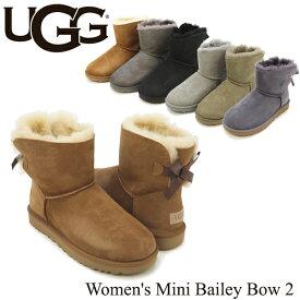 【送料無料】【正規品】アグ オーストラリア(UGG Australia) ウィメンズ ミニ ベイリーボウ 2(Women's MIni Bailey Bow 2)シープスキンブーツ/ムートンブーツ【23】[CC]