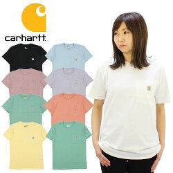カーハート(Carhartt)WOMENSWORKWEARS/SPOCKETT-SHIRTレディース半袖Tシャツ/ワークウェア/カットソー/ゆうパケット送料無料US企画[AA-2]