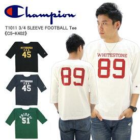 【ポイント10倍】【国内正規品】チャンピオン(Champion)T1011(ティーテンイレブン) 3/4 スリーブ フットボールTシャツ 7分丈(C5-K402) メンズ Tシャツ[AA]