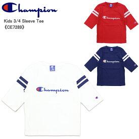 【ゆうパケット送料無料】【ポイント5倍】【国内正規品】チャンピオン(Champion) 7分袖 Tシャツ キッズ/(CE7289) 子供/半袖 [AA-2]