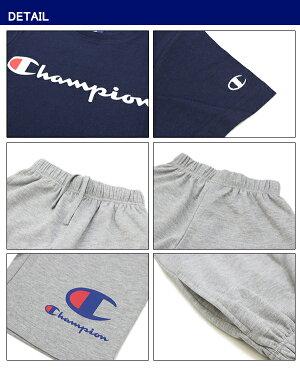 【ポイント5倍】【国内正規品】チャンピオン(Champion)キッズ半袖Tシャツ×ショートパンツセットアップ(CX1406)子供/トドラー/半ズボン[AA]