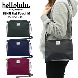 ハロルル(hellolulu)BENJI Flat Pouch M(5075123) ミニショルダー/サコッシュ ポイント5倍 国内正規品 [AA]