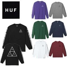 ハフ(HUF)ESSENTIALS TRIPLE TRIANGLE L/S TEE メンズ 長袖 Tシャツ【22】 ゆうパケット送料無料[AA-2]