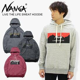 ナンガ(NANGA) LIVE THE LIFE SWEAT HOODIE リブザライフスウェットフーディー メンズ/フード パーカー / ポイント10倍 送料無料 国内正規品 [AA]